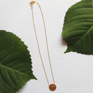 """Nashelle 14k- Gold Filled """"T"""" Pendant"""